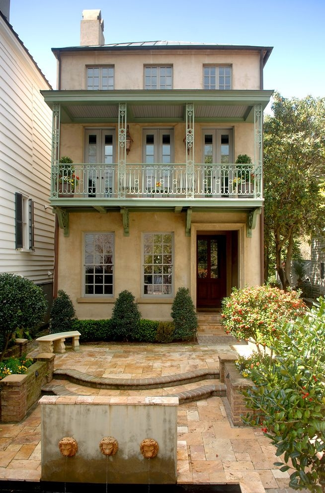 Lowes New Lenox Traditional Exterior And Charleston Courtyard | Lowes Exterior Wrought Iron Railings | Balusters | Deck Railing | Stair Parts | Staircase | Versarail