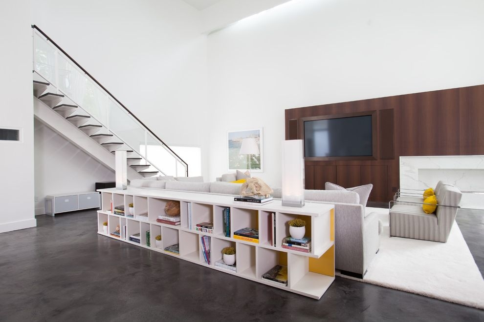Lowes Shelving Units With Contemporary Living Room Also Accent | Glass And Chrome Staircase | Contemporary | White Post | Single Spine | Lights | Stainless Steel
