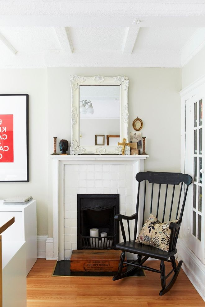 November Rain Benjamin Moore With Eclectic Living Room And