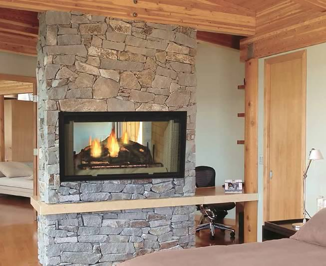 Majestic See Thru Wood Burning Fireplace Fine S Gas