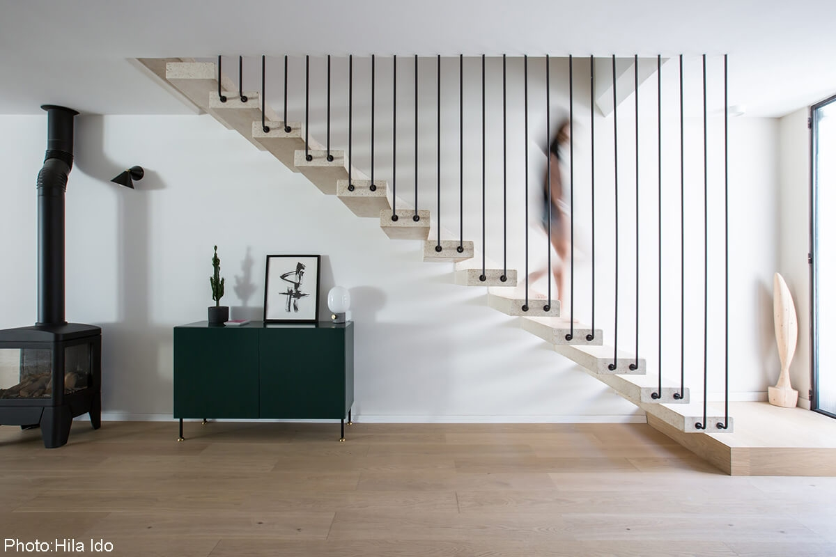 200Sqm House Ramat Hasharon Fineshmaker | Modern Stairs Design Indoor | Contemporary | Concrete | Beautiful Modern | Fancy | Interior