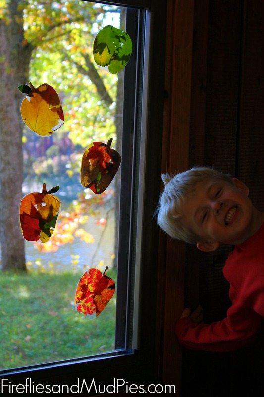 autumn leaf suncatchers 4
