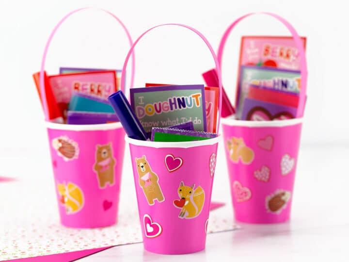 Paper Cup Valentine Holder