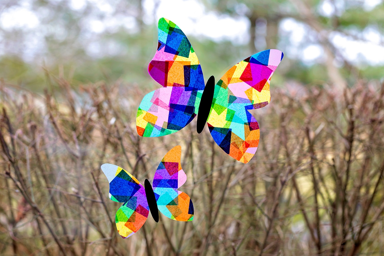 Tissue Paper Butterfly Suncatcher
