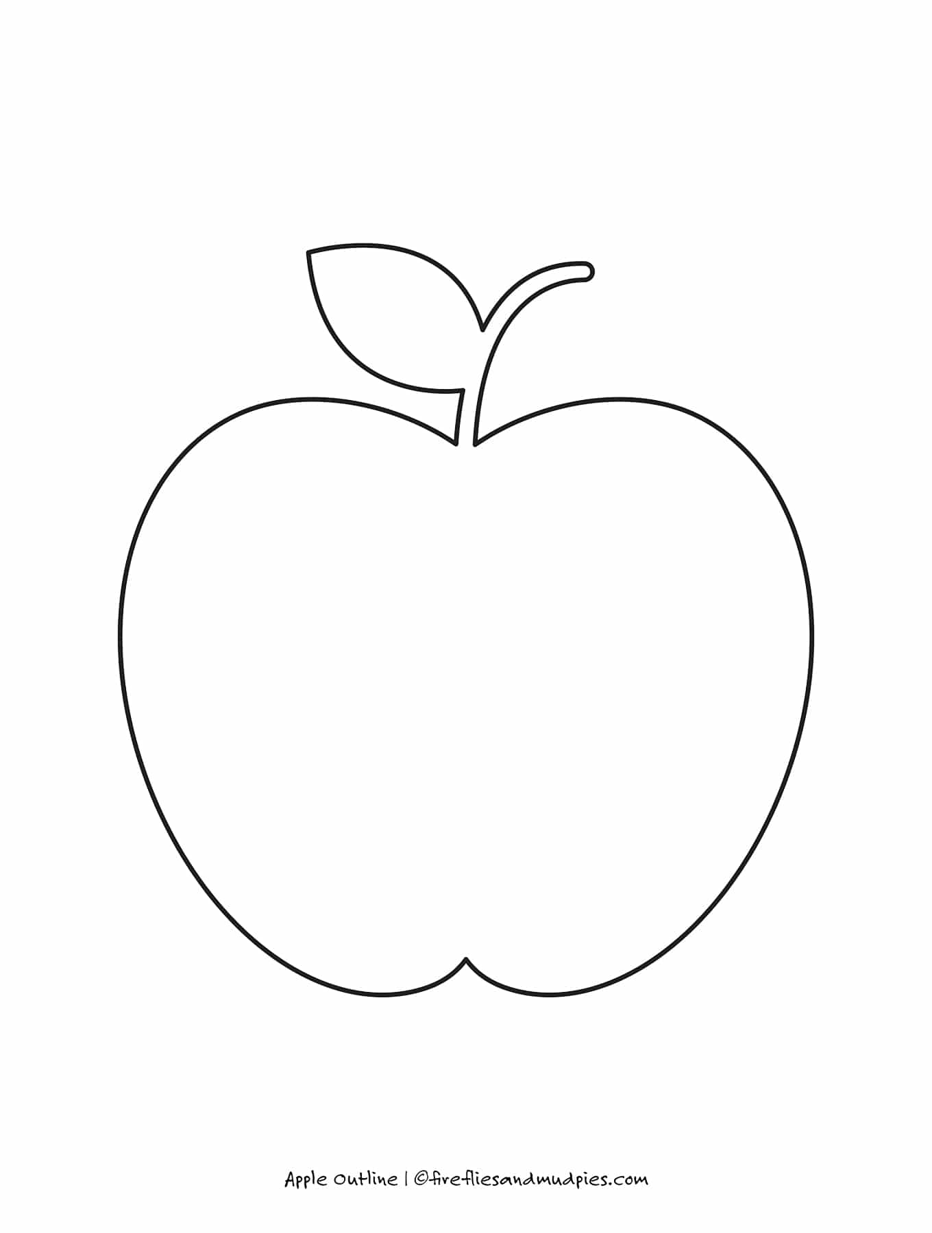 Free Printable Apple Outline For Crafts Fireflies And Mud Pies