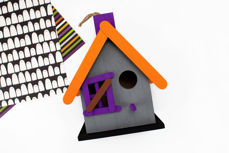 Halloween Birdhouse In-Process