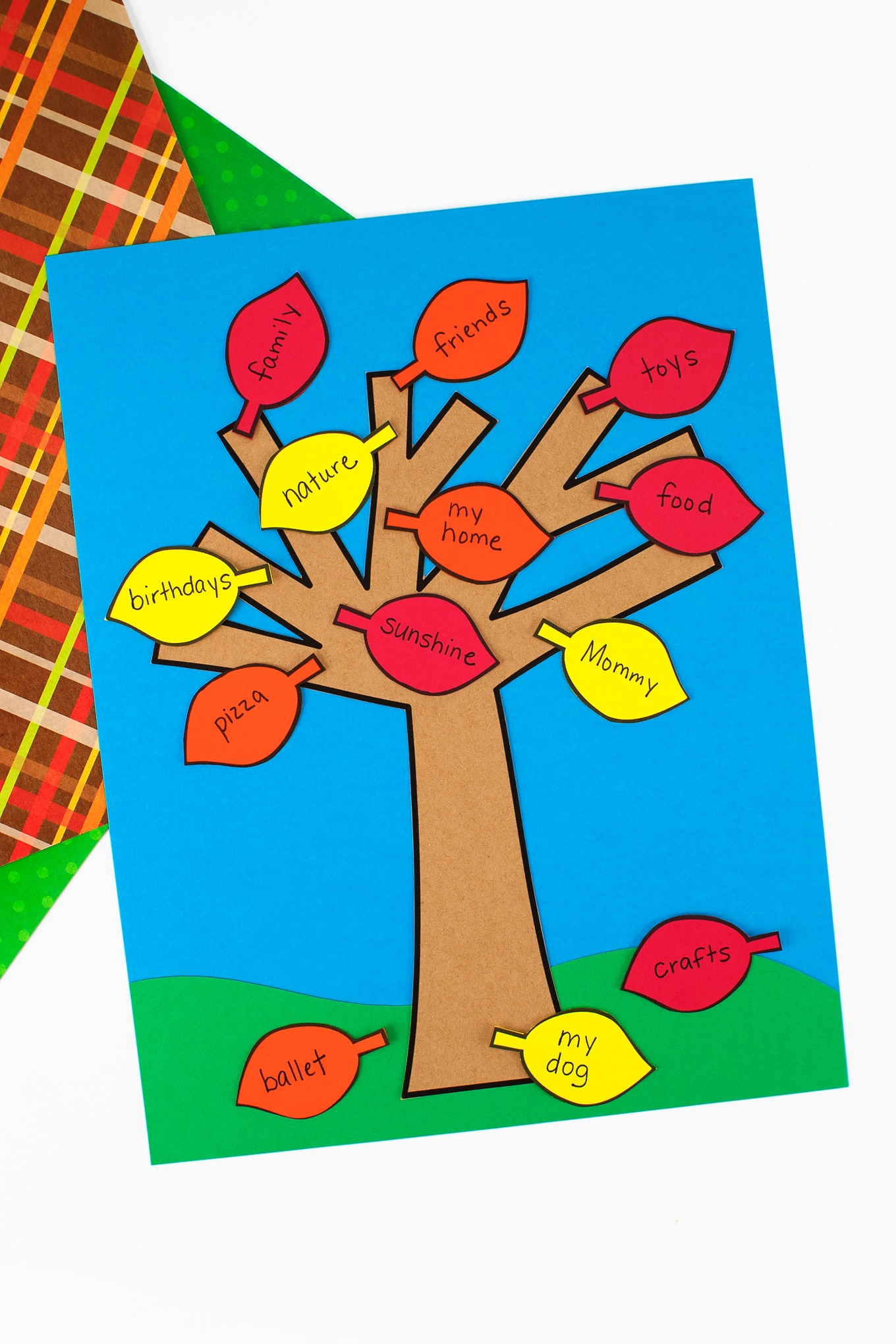 Free Printable Gratitude Tree Craft for Kids