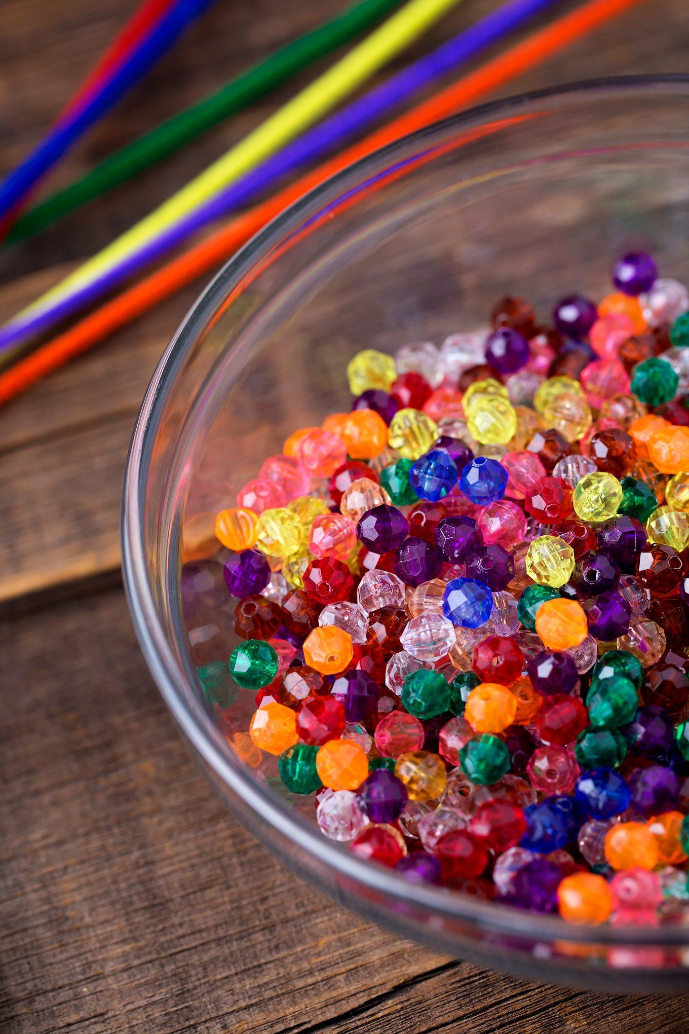 Materials Needed for Beaded Rainbow Suncatchers