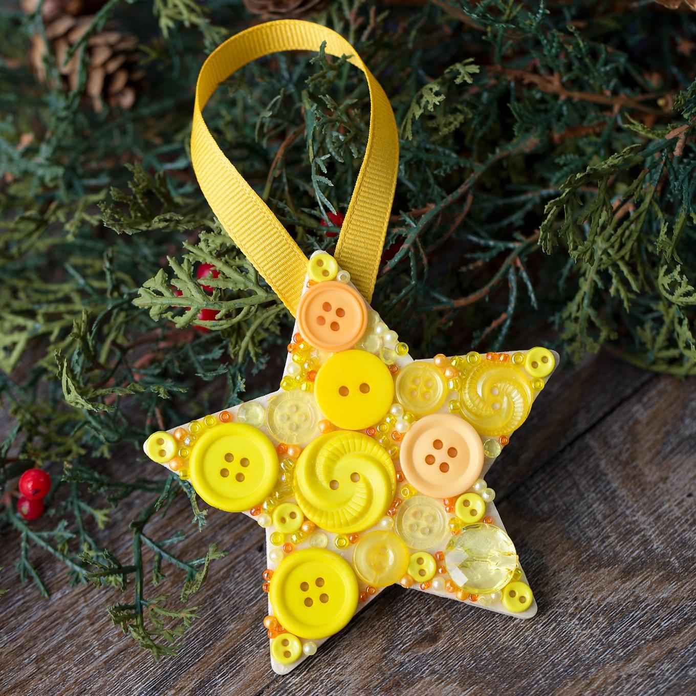 Button Star Ornament