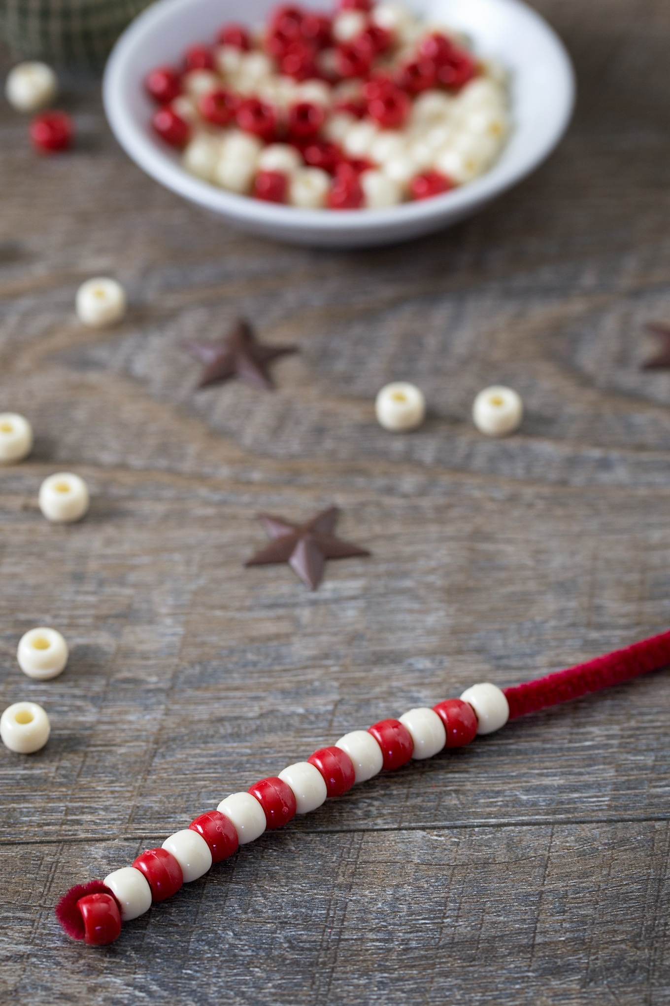 Candy Cane Ornaments In-Process