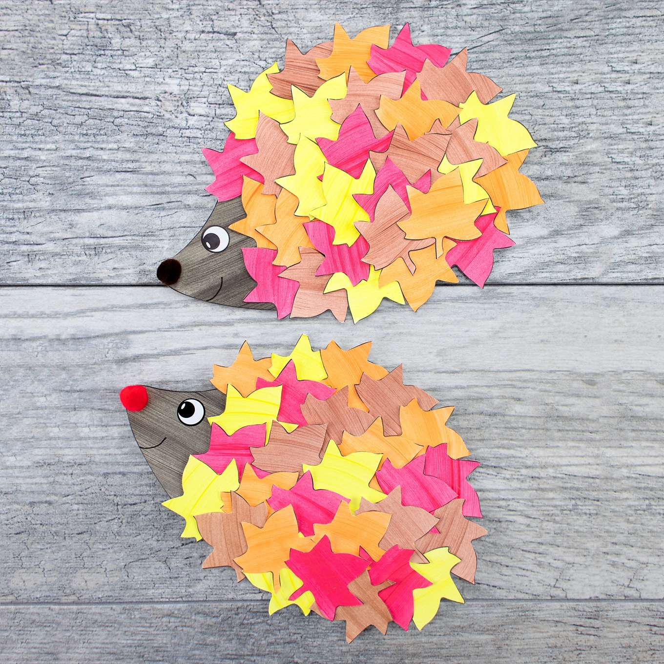 Easy and Fun Paper Hedgehog Craft