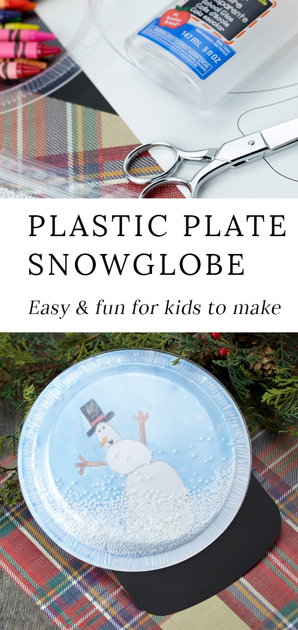 This easy and fun DIY Snow Globe Craft is perfect for kids to make in preschool, kindergarten, or elementary school. Kids can even glue a string to the back to make an ornament! It's such an easy and fun craft for Christmas and winter. #snowglobe #craft #kids via @firefliesandmudpies