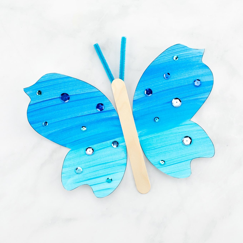 Blue Fluttering Butterfly Craft
