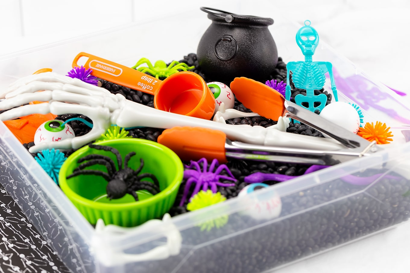 Tabletop Halloween Sensory Bin