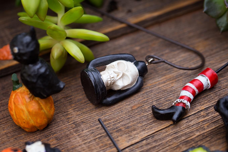 Halloween Teacup Garden Skull