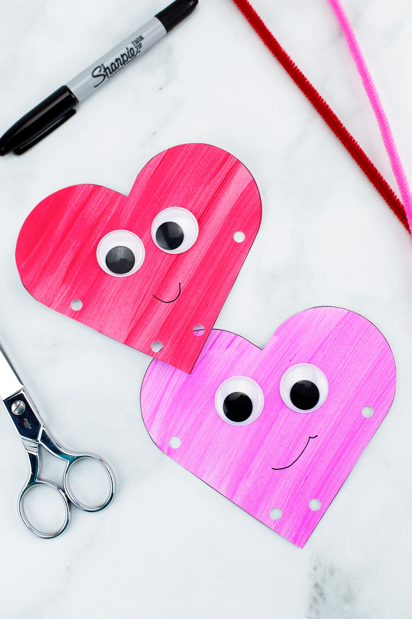 Creating Heart Buddies Easy Valentine's Day Craft for Kids