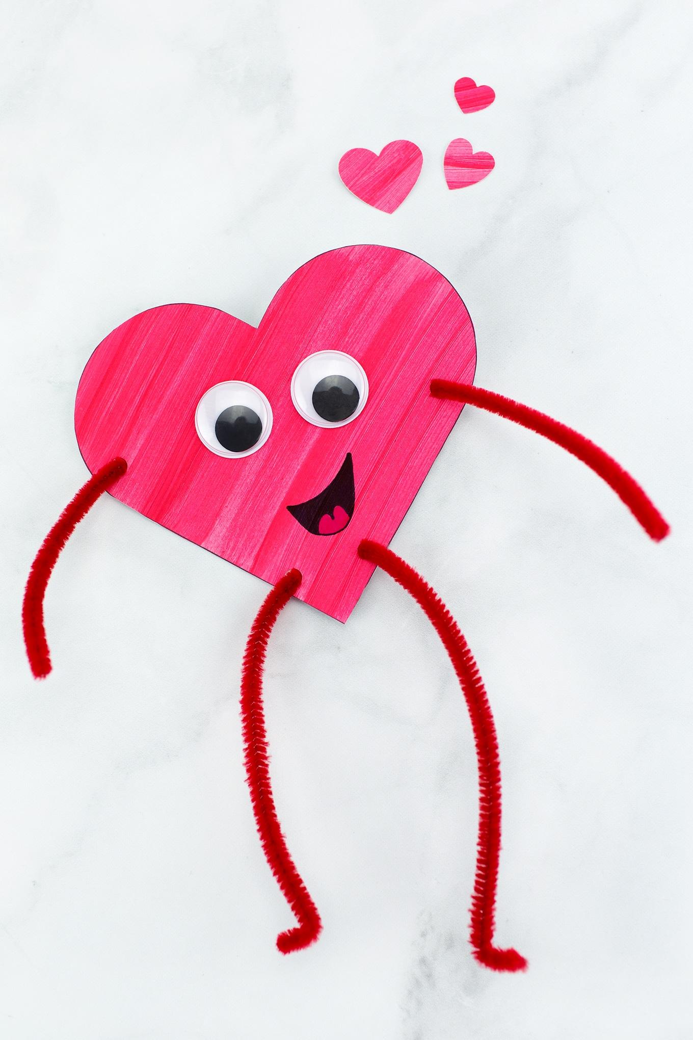 Heart Buddies Easy Valentine's Day Craft for Kids