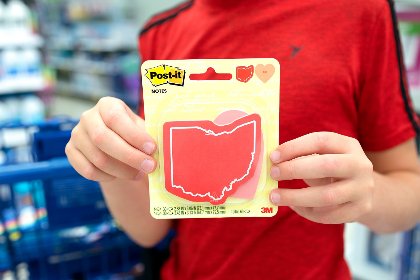 Ohio-Shaped Post-It Notes