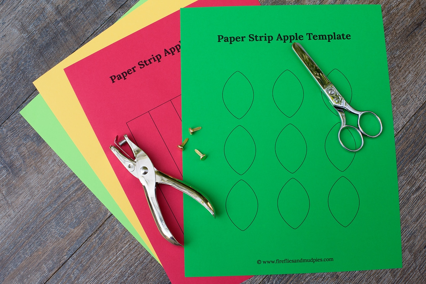 Materials to Make a Paper Apple Craft