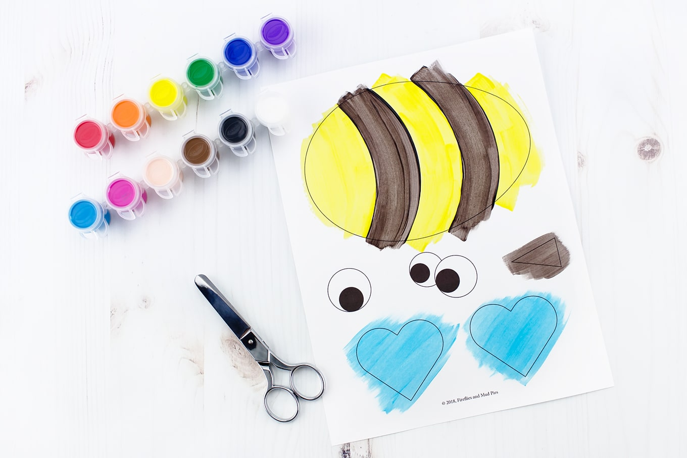 Easy and Fun Paper Bee Craft In-Process