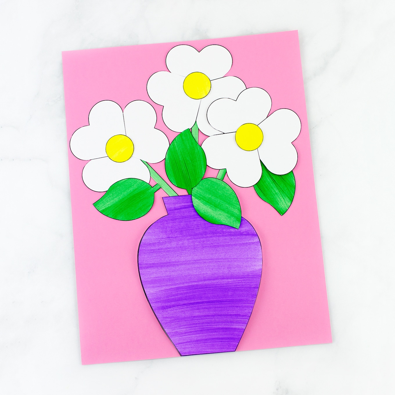 Construction paper spring flower crafts mightylinksfo