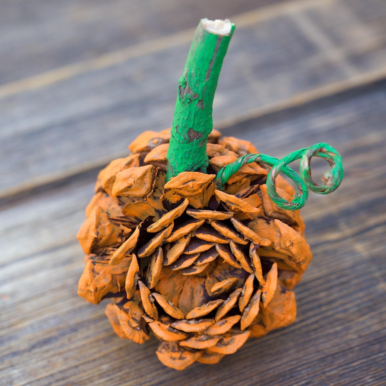 Easy and Fun Pine Cone Pumpkin