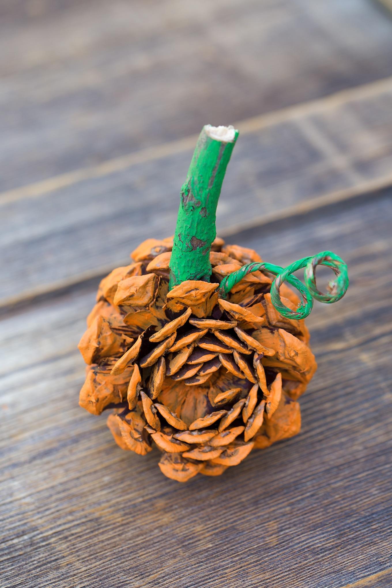 Make a Pine Cone Pumpkin