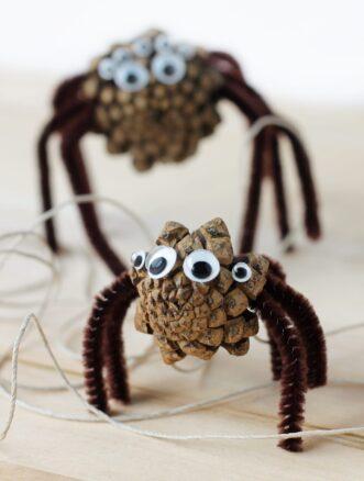 Pine Cone Spider Craft