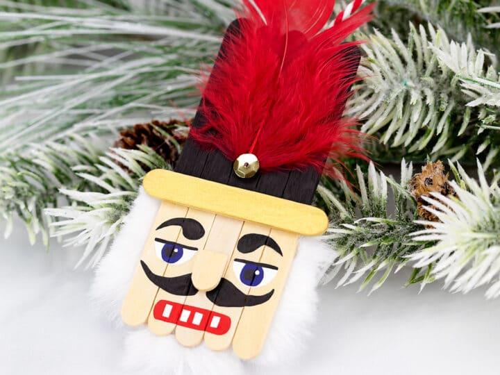 Popsicle Stick Nutcracker Ornament