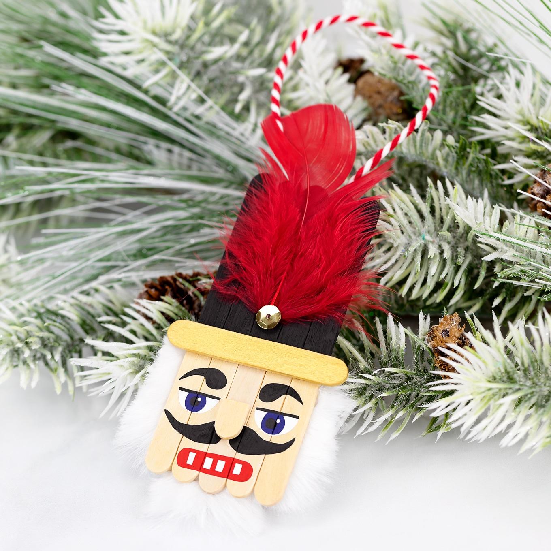 Popsicle Stick Nutcracker Ornament Tutorial and Video