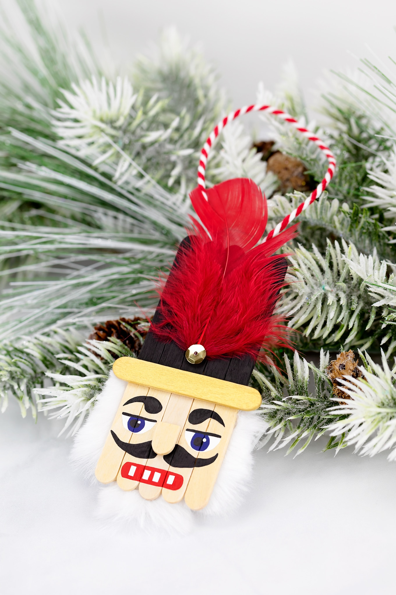 How to Make an Easy and Fun Craft Stick Nutcracker Ornament for Christmas
