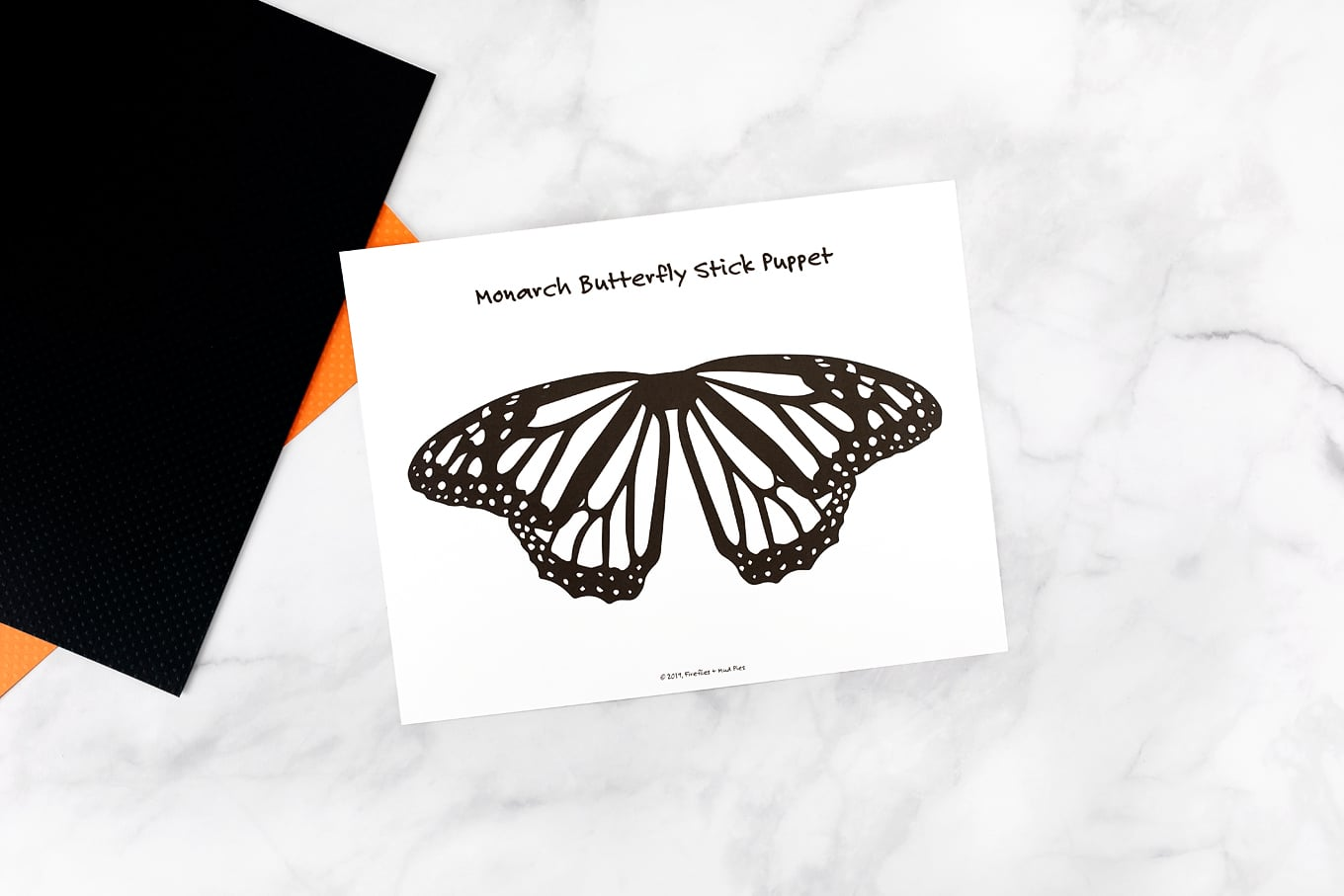 Monarch Butterfly Template Printable