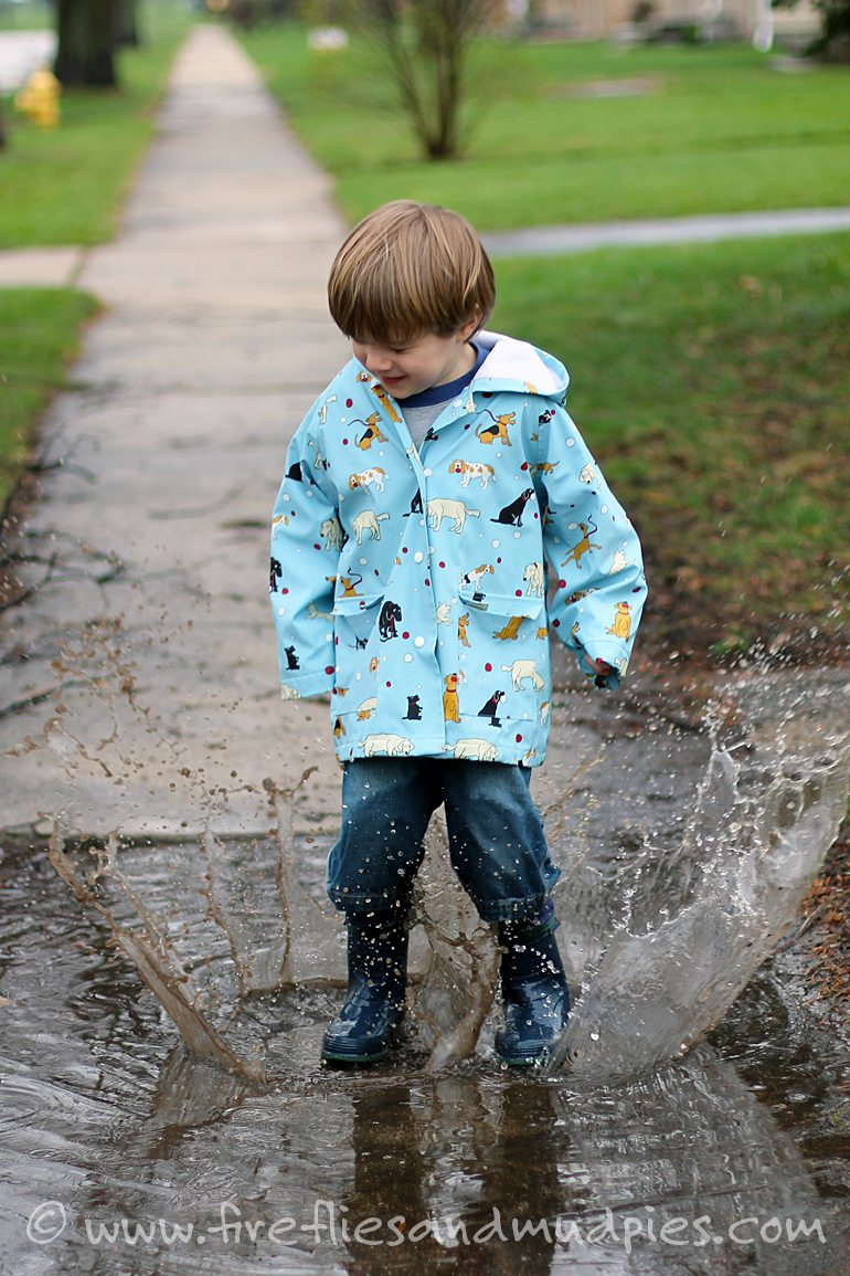 Puddle Jumping on Rainy Days | Fireflies and Mud Pies