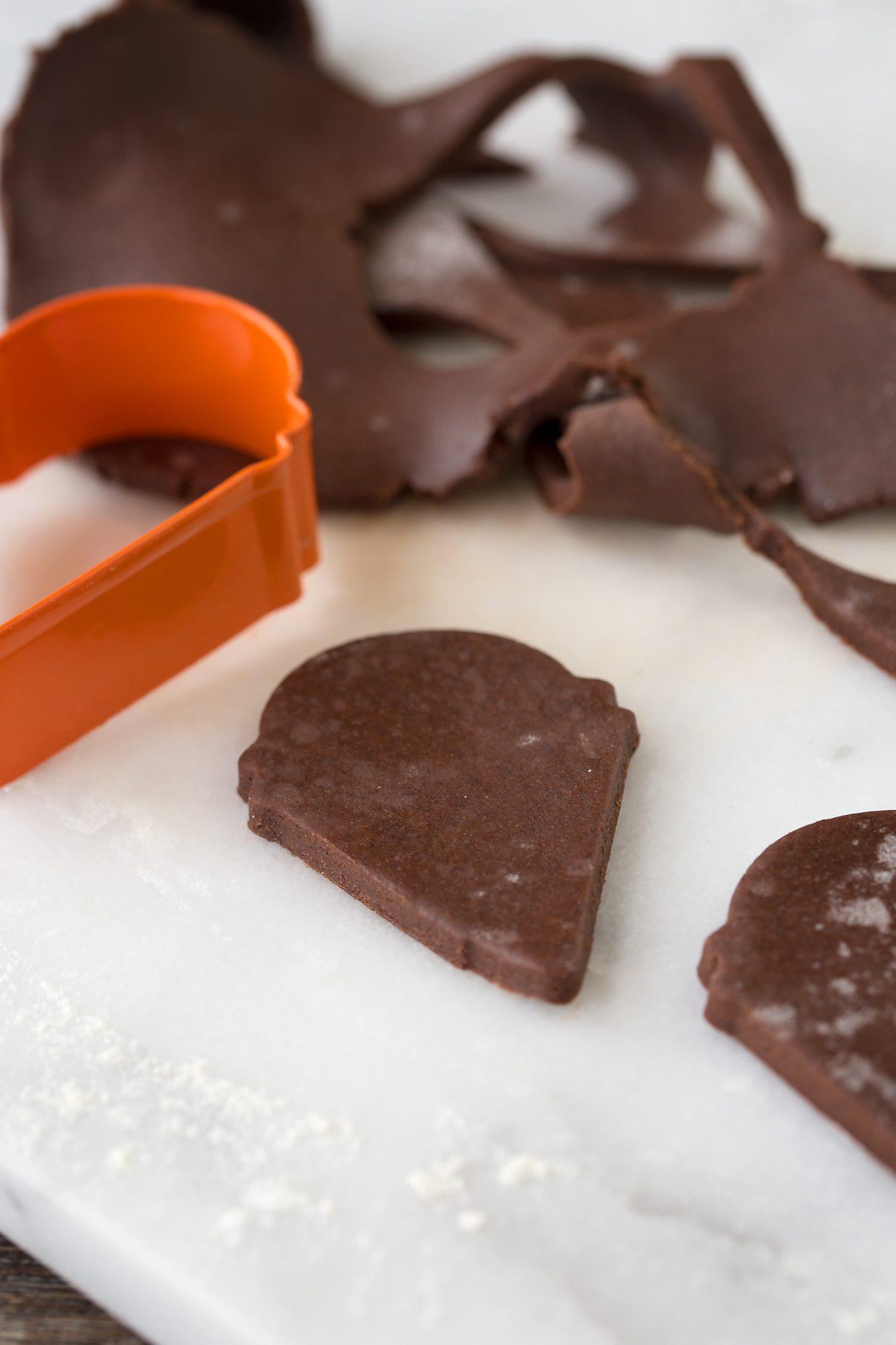 Chocolate Reindeer Cookies In-Process