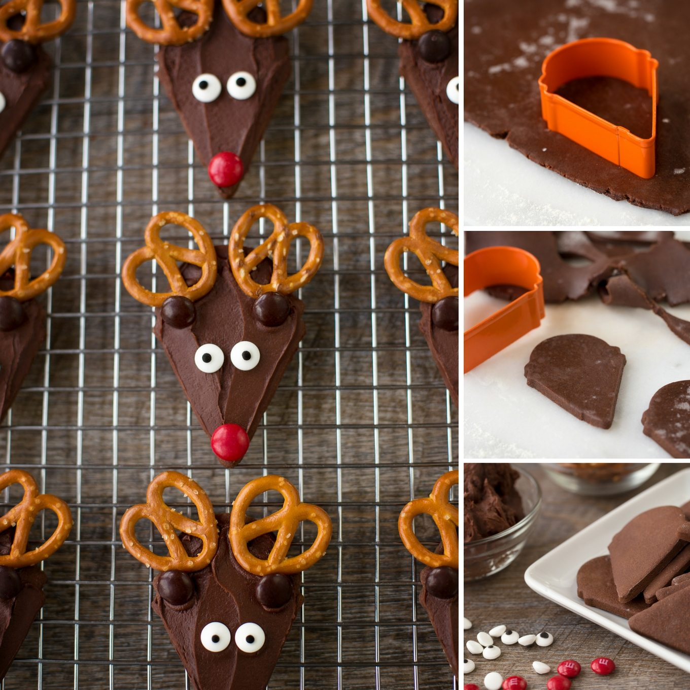 Chocolate Reindeer Cookies - An Easy and Fun Cookie Recipe for Kids