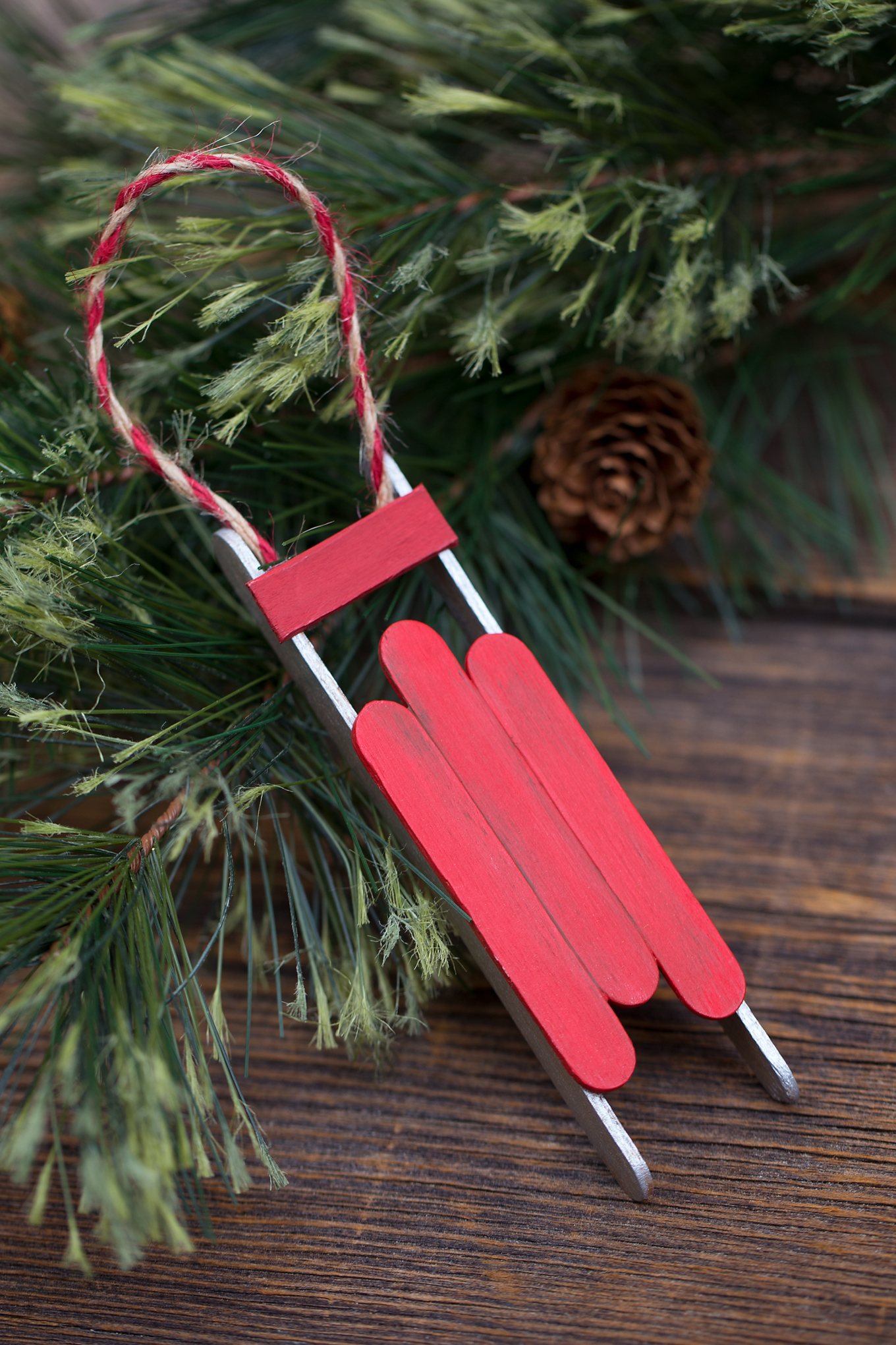 Easy and Fun DIY Popsicle Stick Sled Ornament for Kids