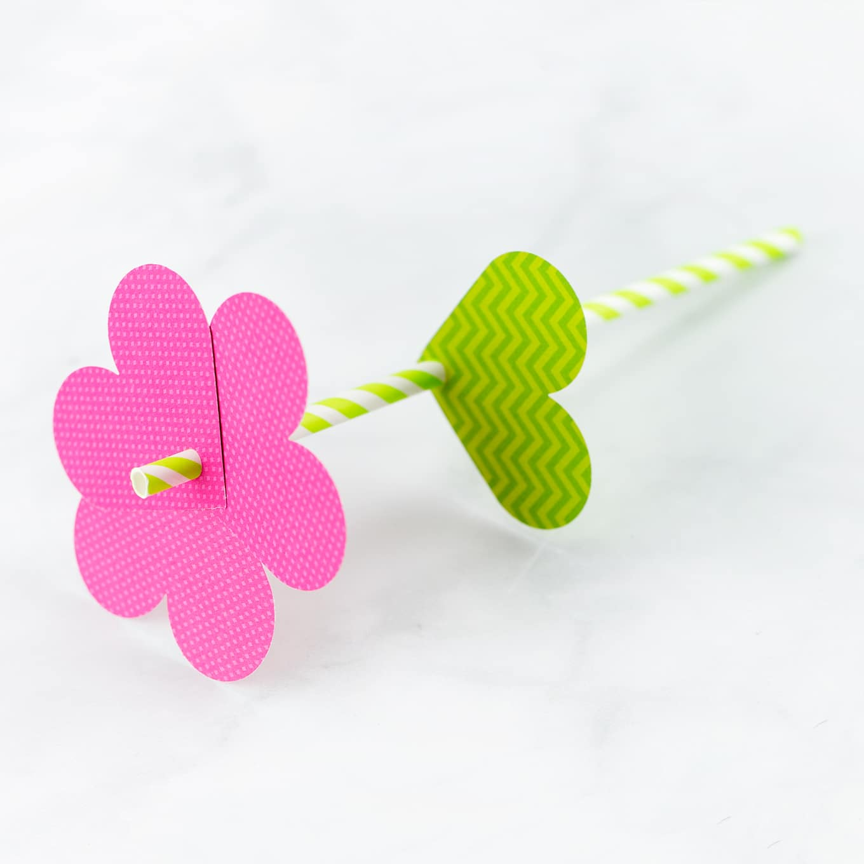 Pink Paper Heart Flower Craft