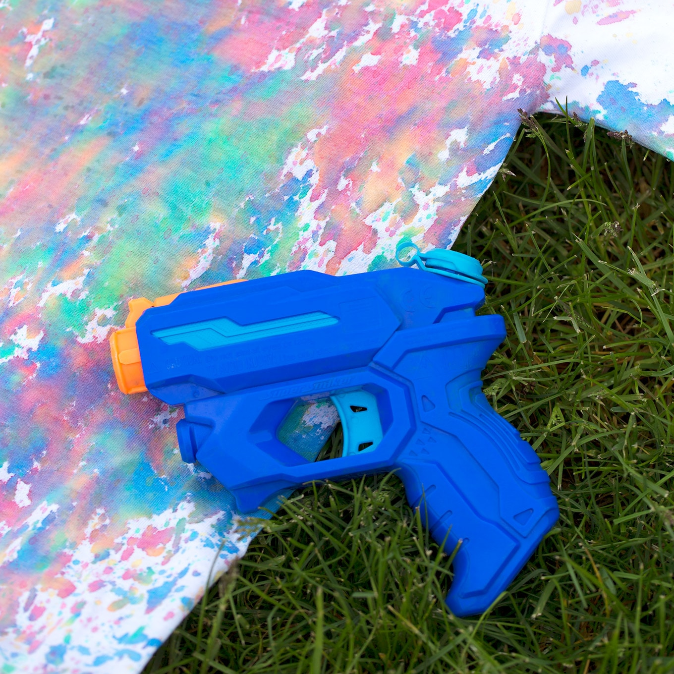 Rock Summer with Colorful Squirt Gun Tie-Dye
