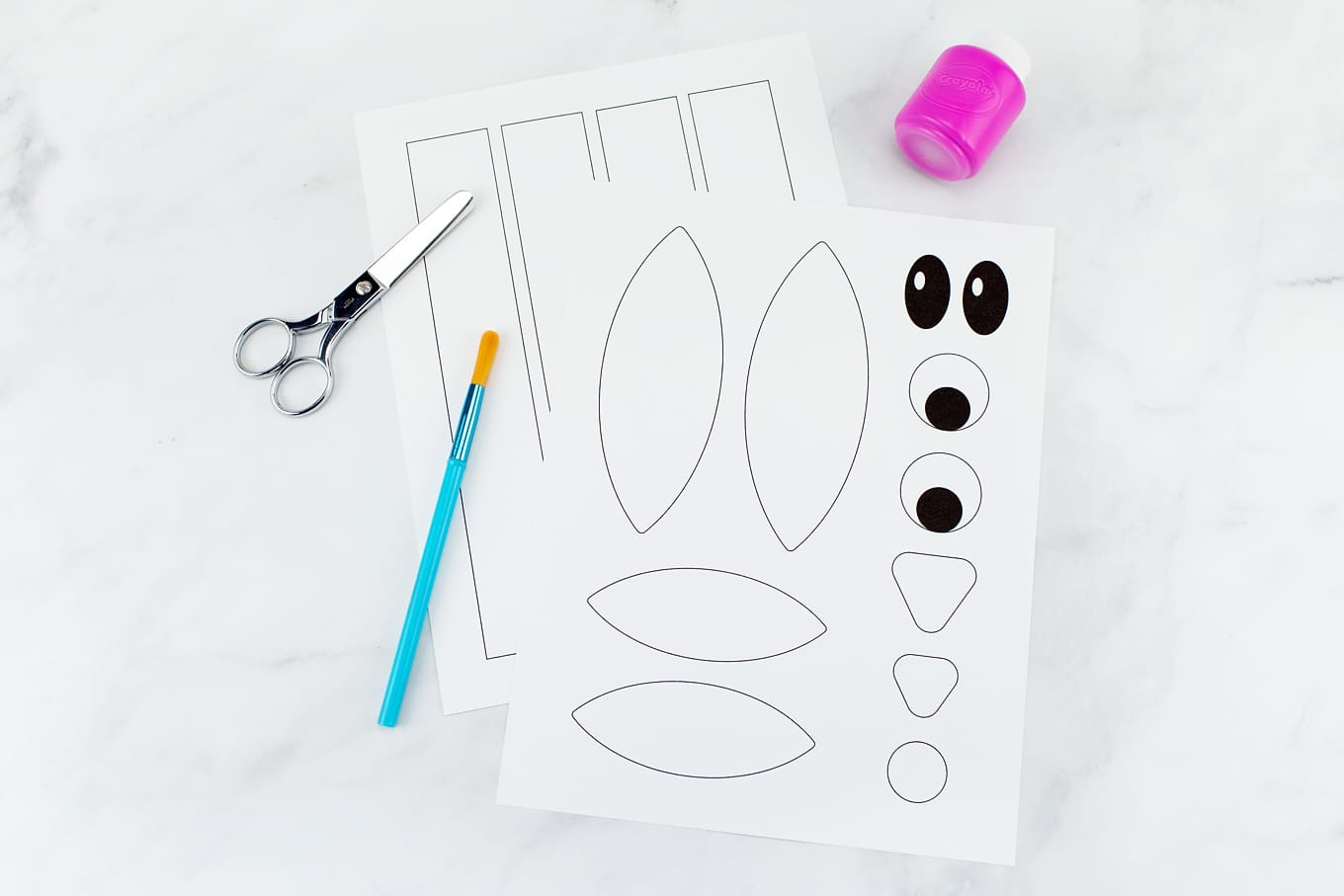 Materials Needed for Paper Bag Bunny Craft