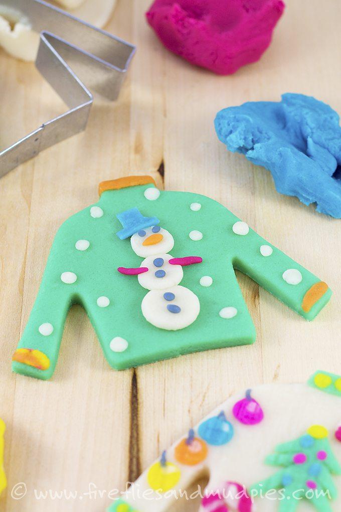 Ugly Christmas Sweater Playdough | Fireflies and Mud Pies