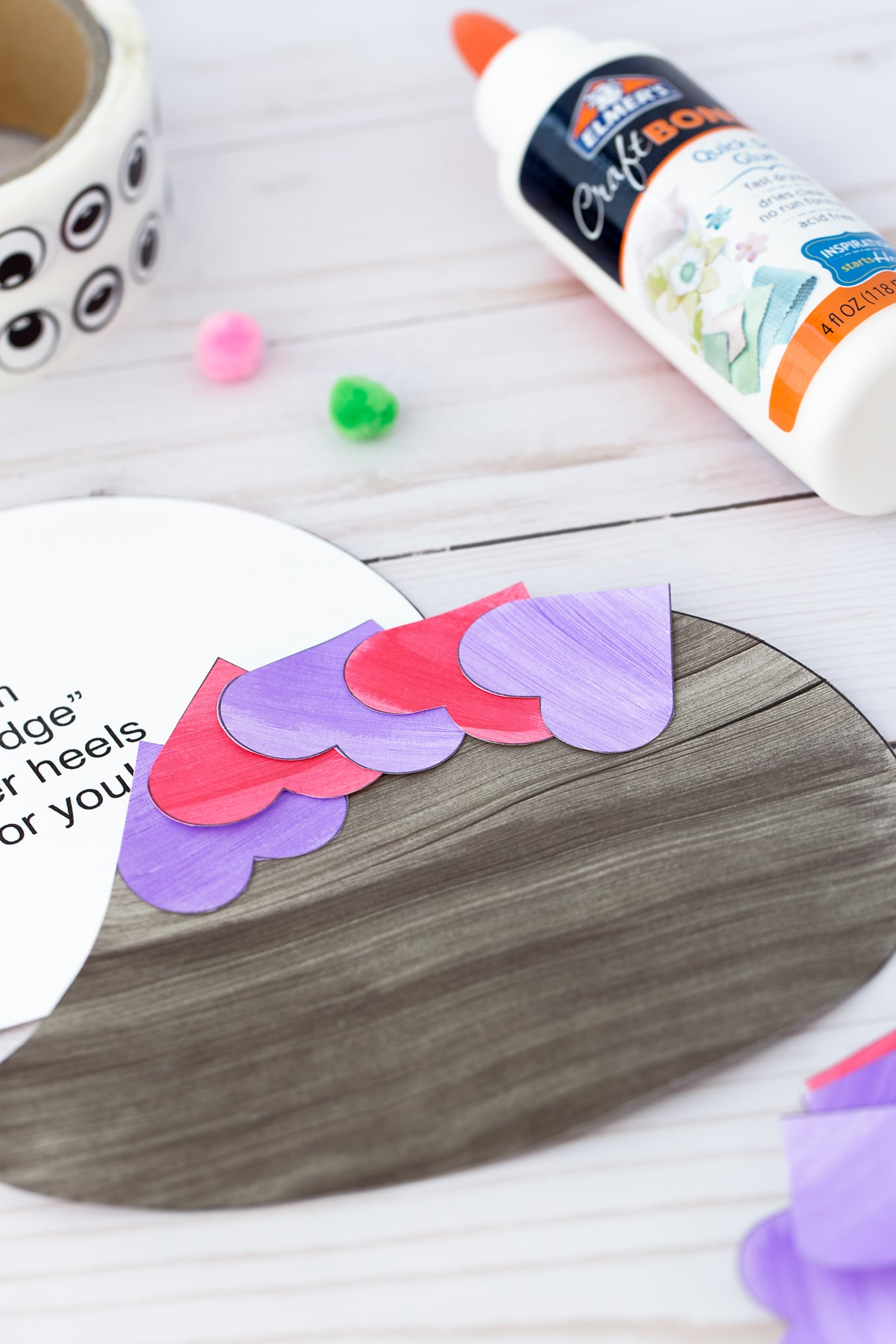 Valentine Hedgehog Card In-Process