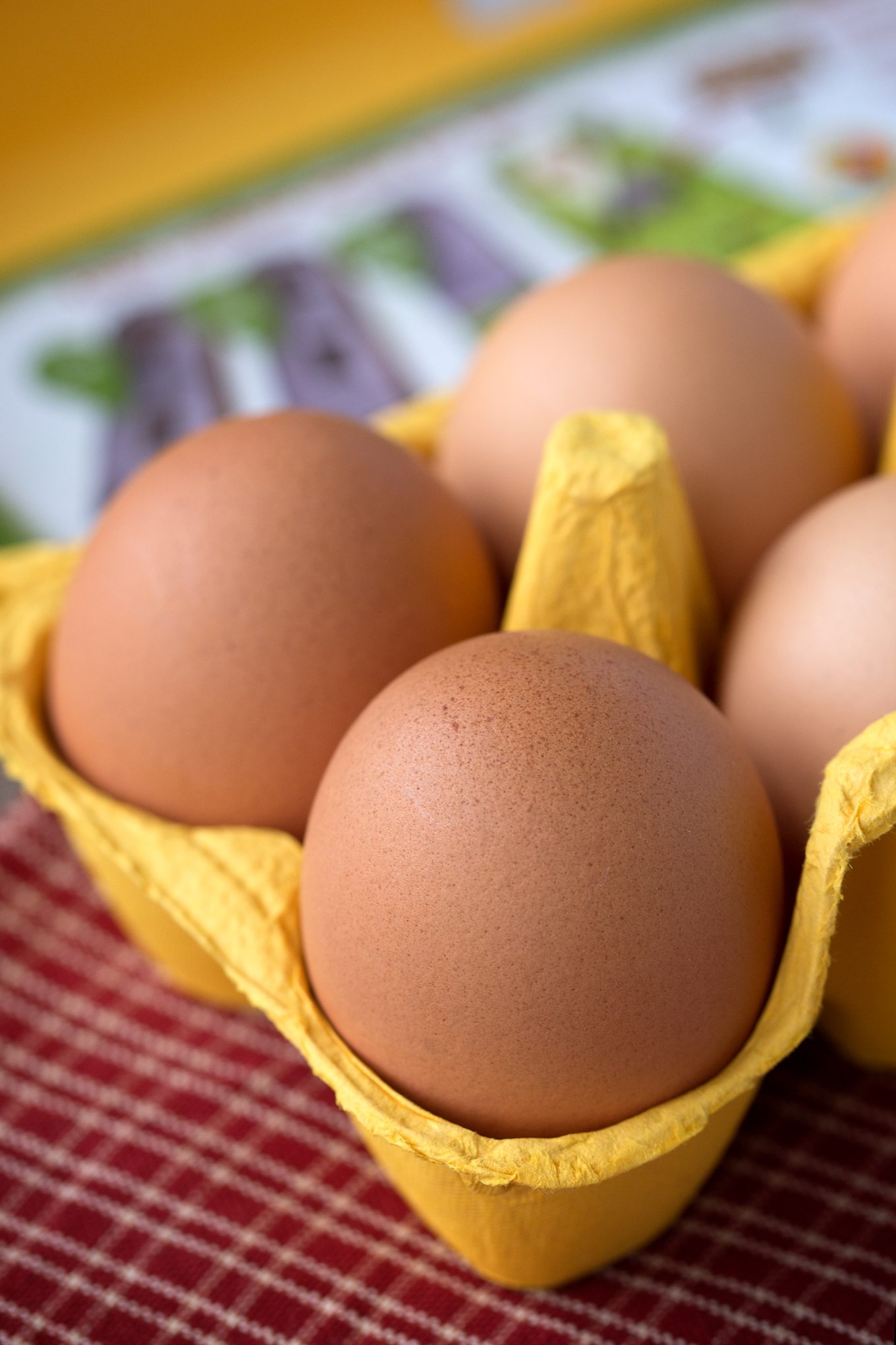 Fresh Brown Eggs with Speckles