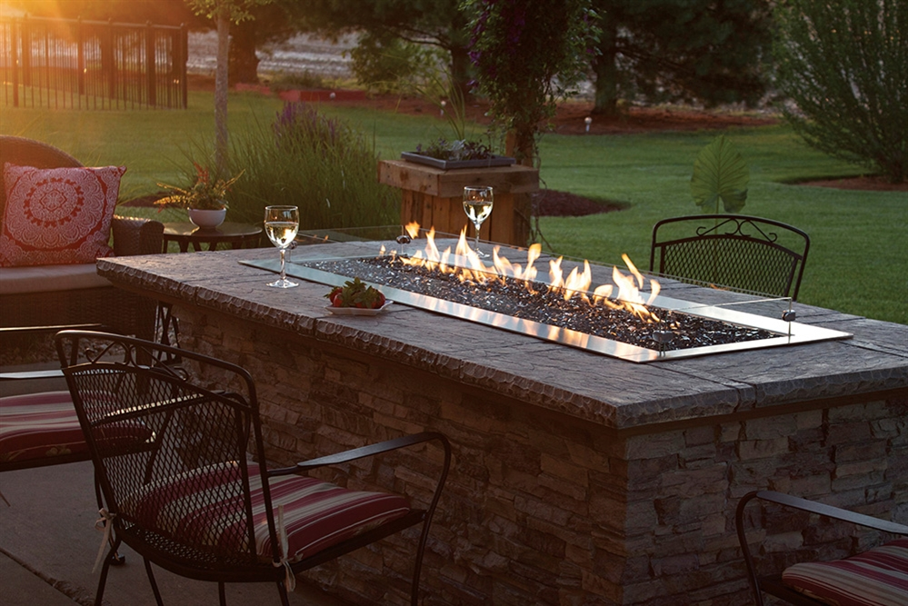 White Mountain Hearth By Empire Outdoor Linear Gas Fire