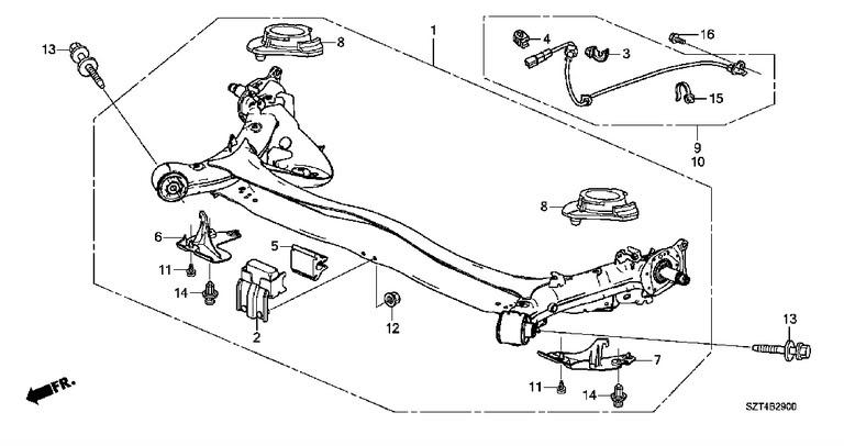 Honda Rear Suspension Odyssey Diagram