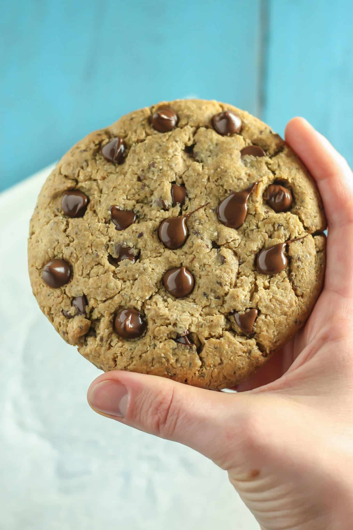 Giant Vegan Chocolate Chip Cookie Gluten Free Fit