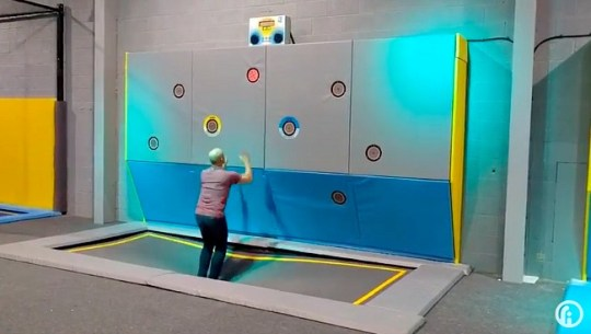 SkyPods Introduce Interactive Games to Trampoline Parks   Fitness Gaming interactive trampoline game interactive trampoline game