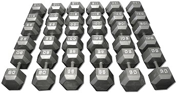 Cast Iron Dumbbell Set 80 120 Lbs Fitness Destination