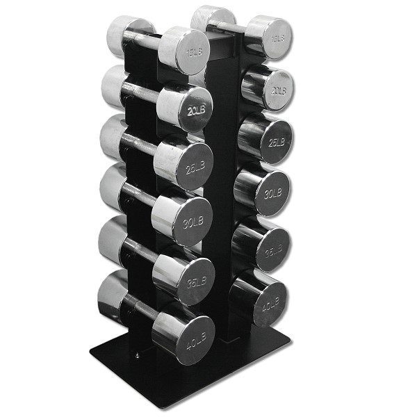 Deltech Fitness Dumbbell Rack With 15 40 Lb Chrome