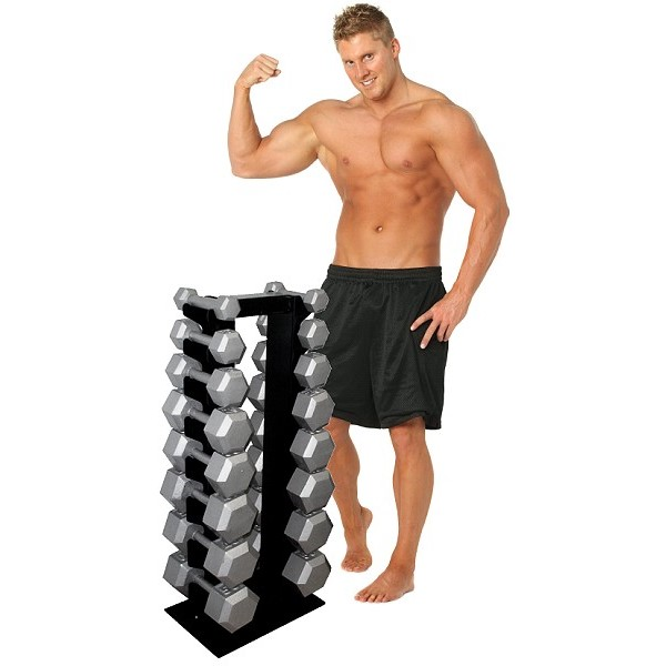 Deltech Fitness 8 Pair Vertical Dumbbell Rack Scratch And
