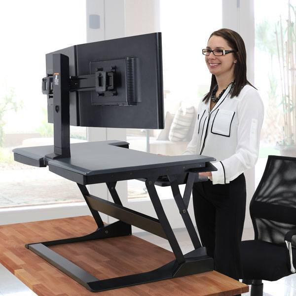 Ergotron Work Fit T Sit Stand Workstation 187 Fitness Gizmos